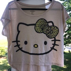 Hello Kitty cropped tshirt